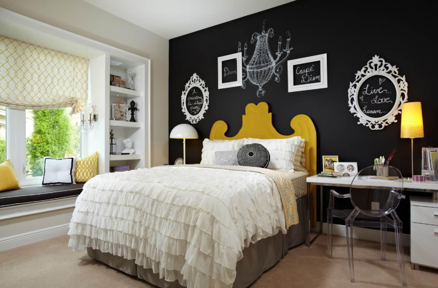 Как оформить дизайн стен в спальне: варианты декорирования (+47 фото)