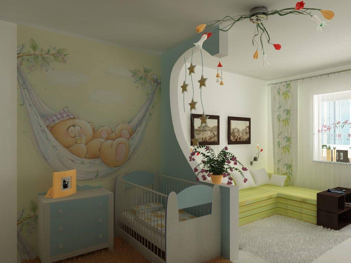 Детский уголок в однокомнатной квартире - 50 фото лучших идей