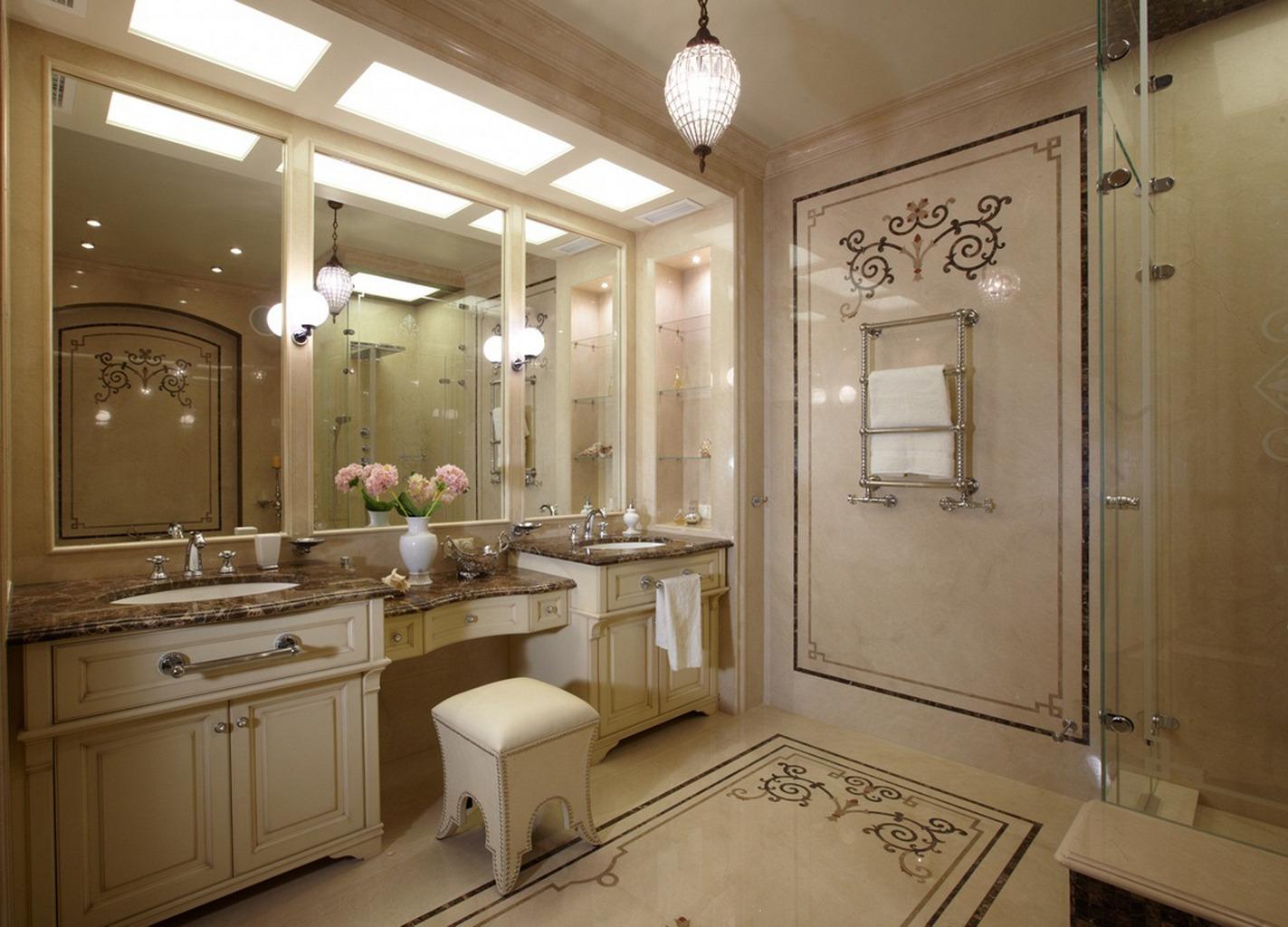 Фото дизайн ванной в классическом стиле