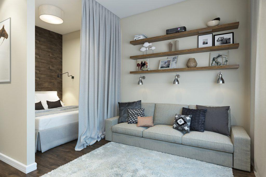 Особенности гостиной совмещенной со спальней: варианты зонирования пространства