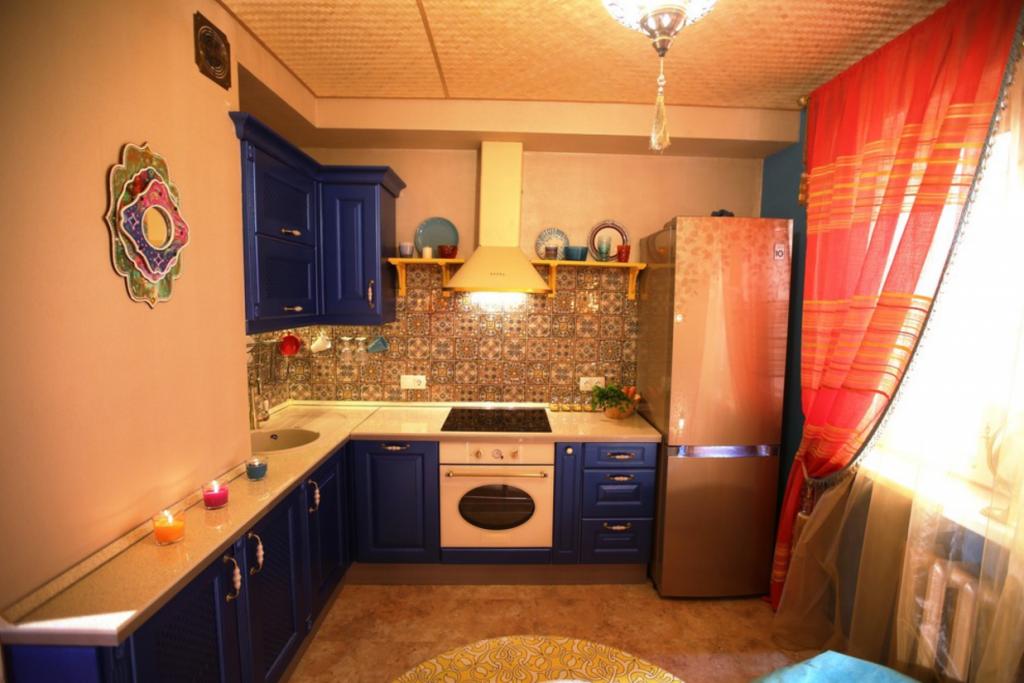 Идея оформления маленькой кухни в арабском стиле
