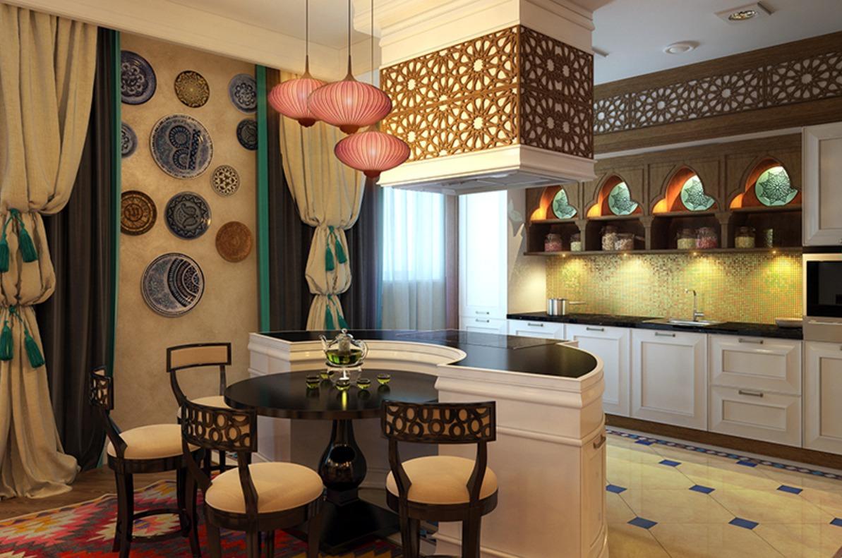 Интерьер кухни фото в восточном стиле