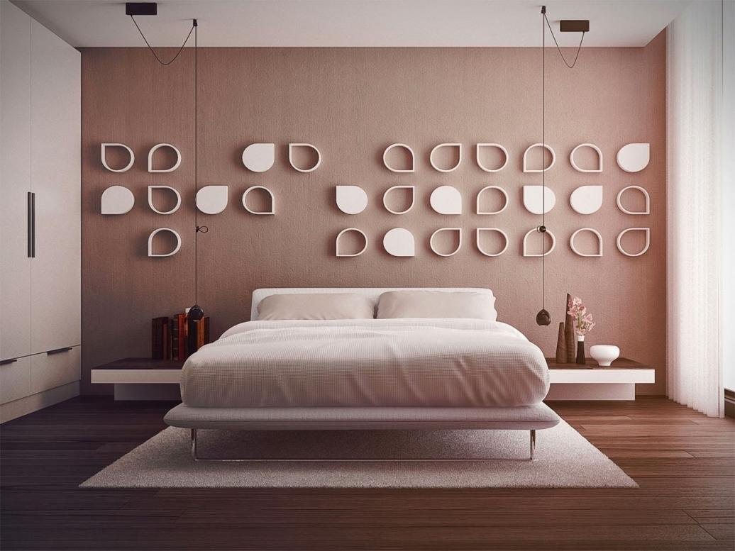 Как украсить стену в спальне своими руками фото 21