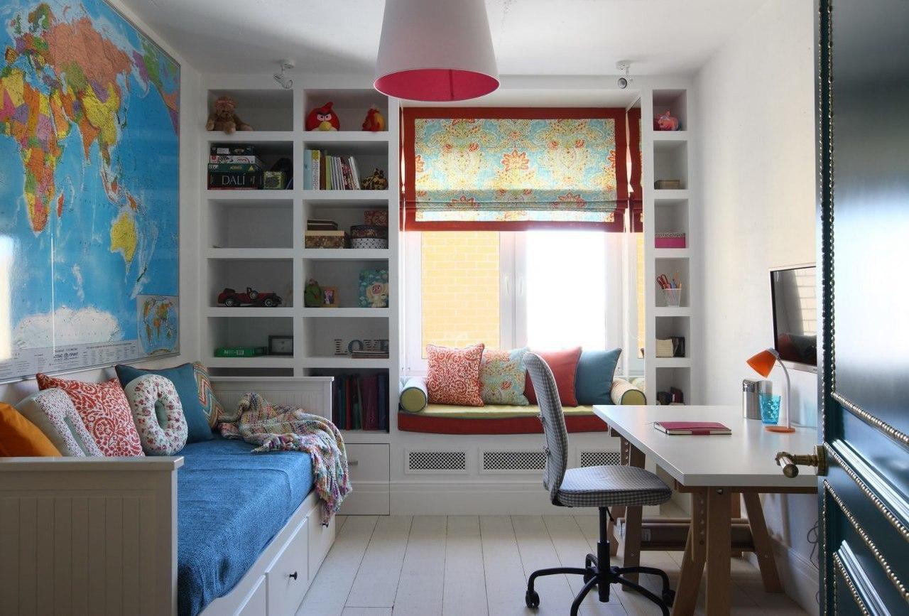 дизайн комнаты 8 кв.м с окном фото