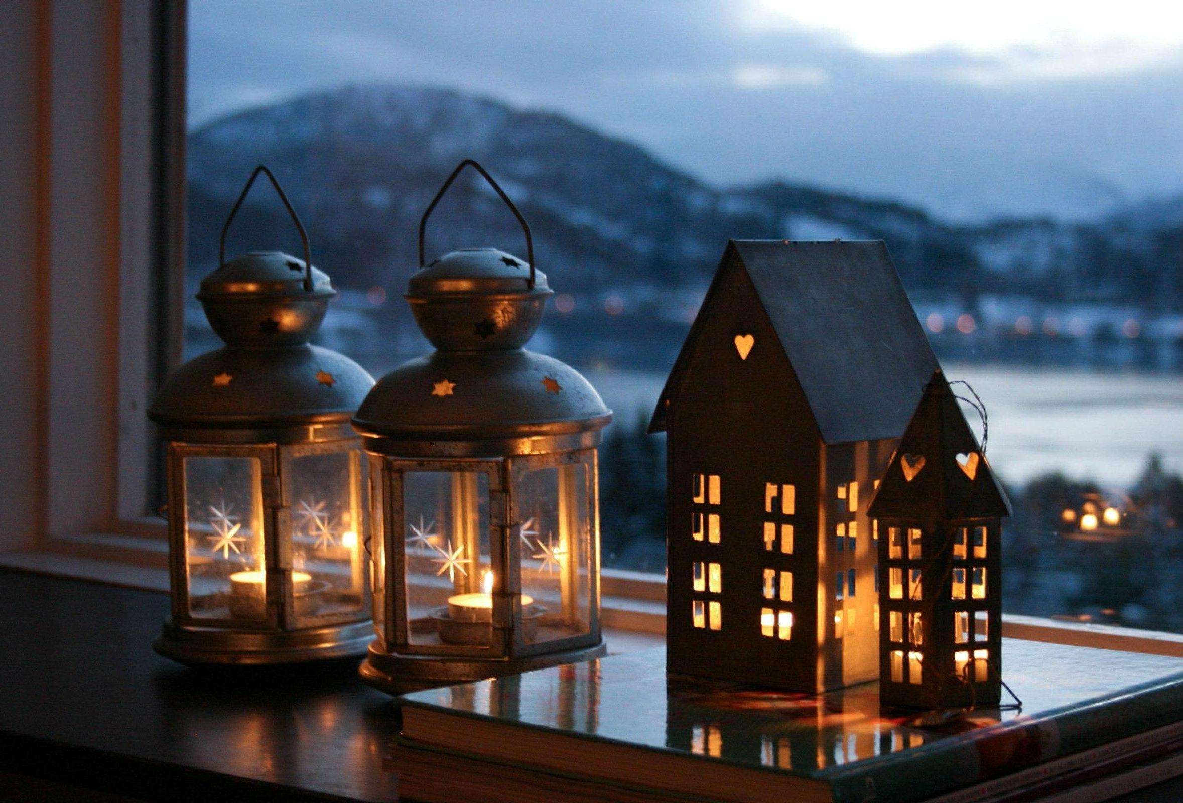 Новогодние фонарики и подсвечники своими руками