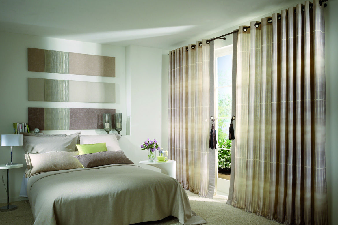 Contemporary bedroom curtains