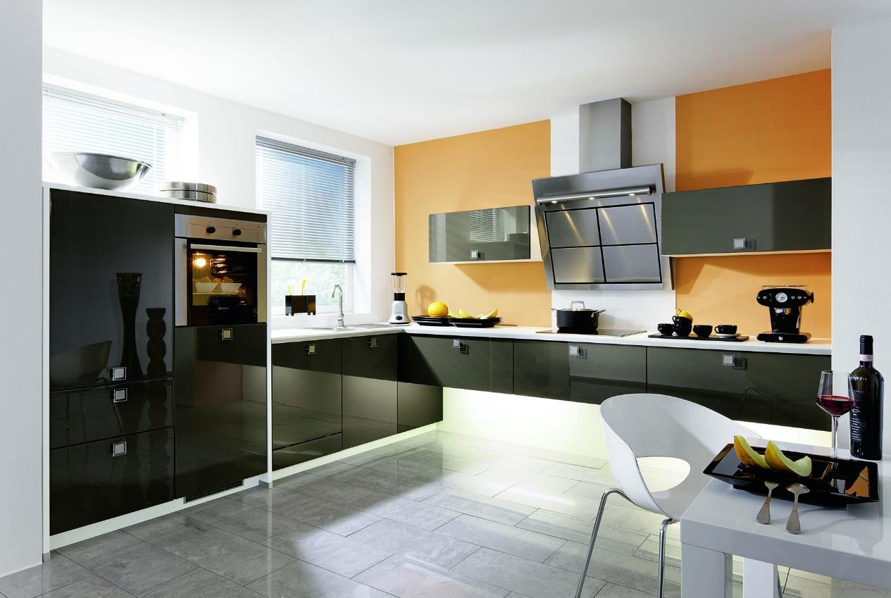 Кухня в стиле хай тек интерьер фото