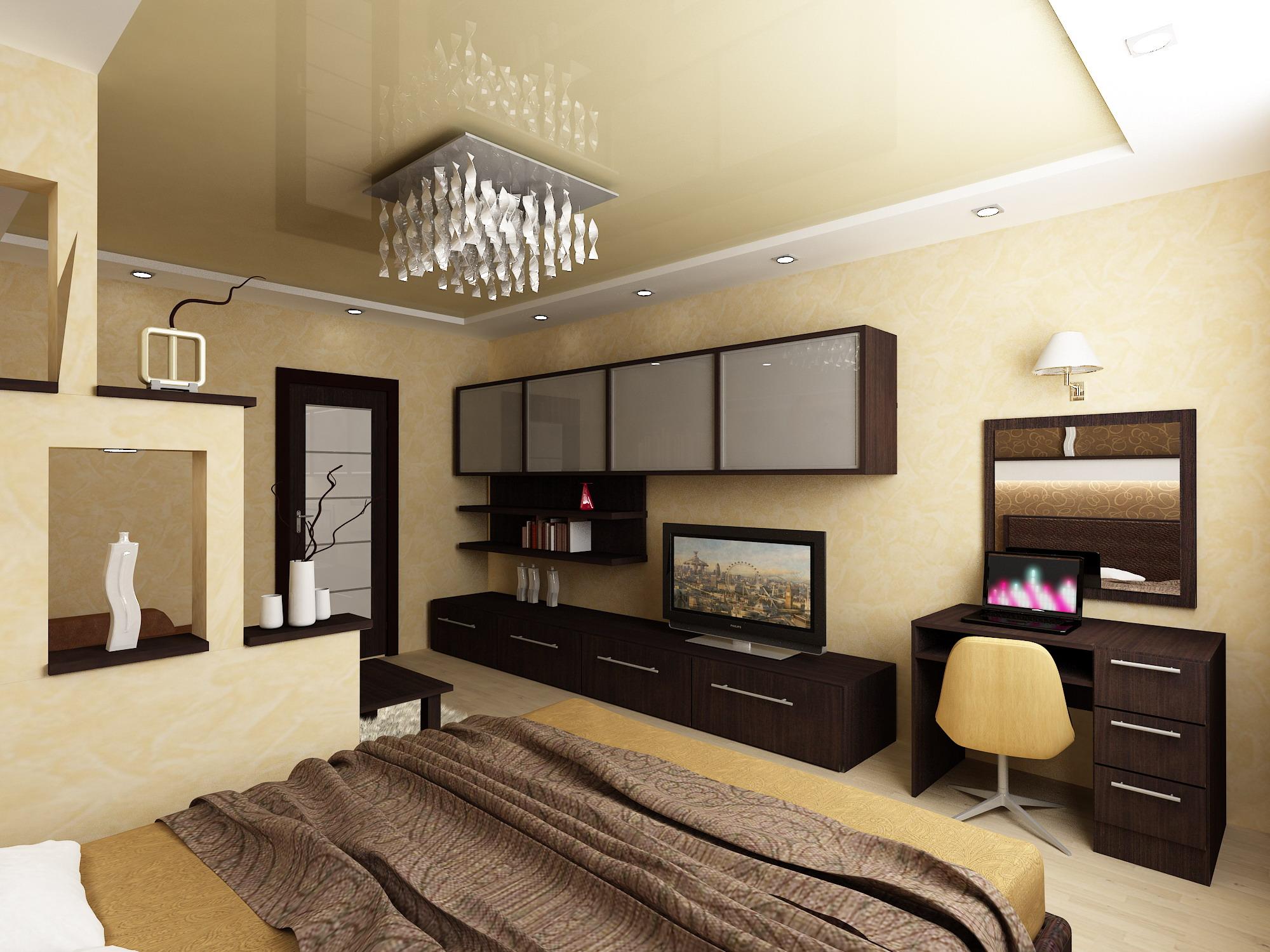 ремонт комнаты 18 кв м спальня гостиная фото