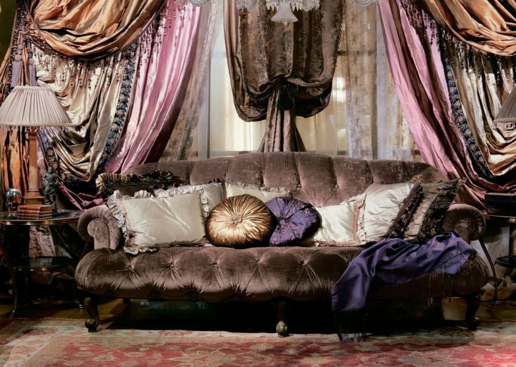 Шторы и текстиль в итальянском стиле