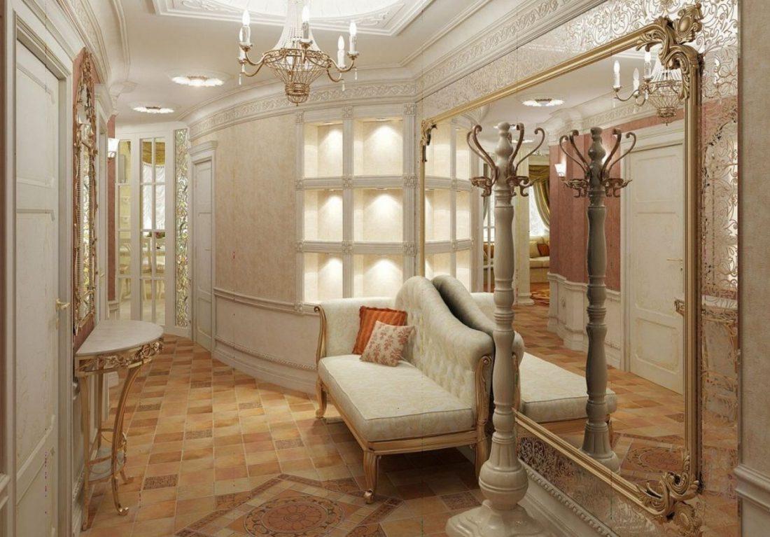 Интерьер прихожей в доме фото в классическом стиле