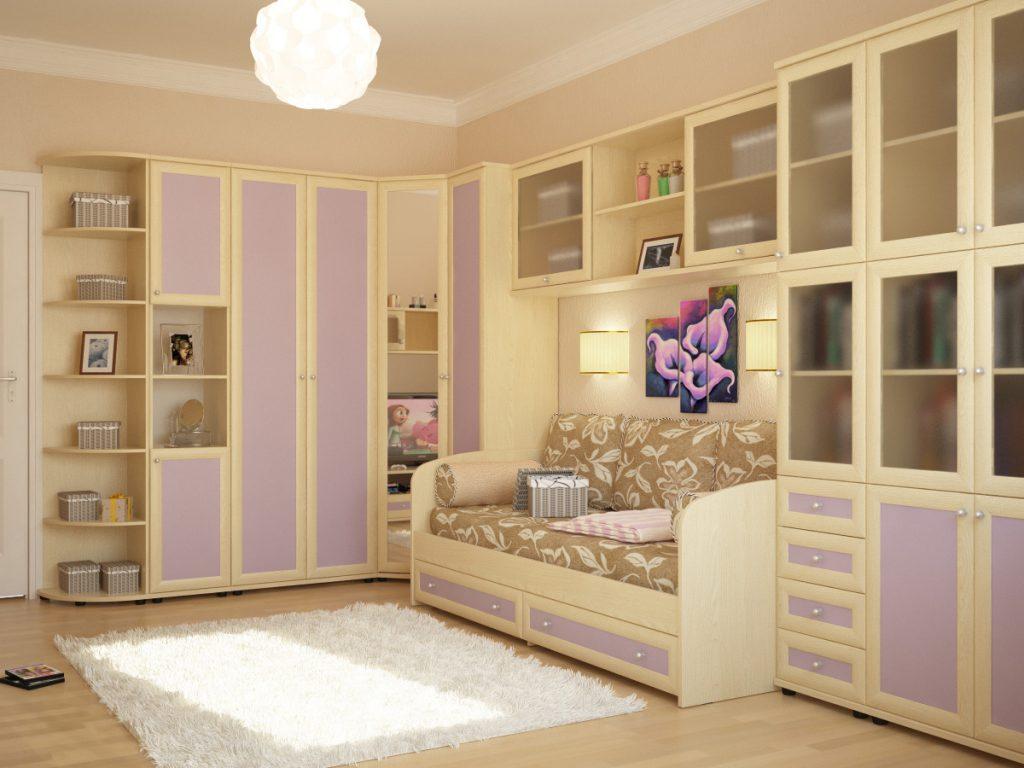 Цветовое оформление комнаты для девочки