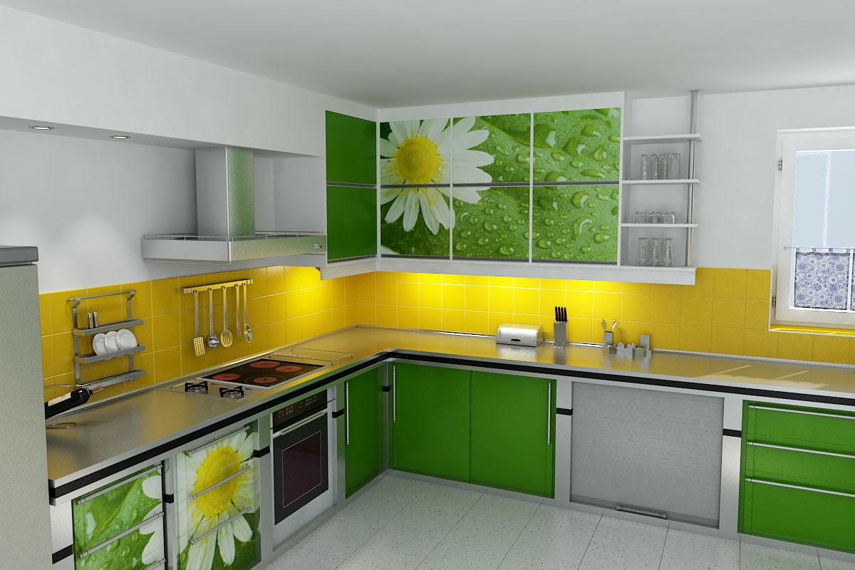 Кухня цветовой дизайн