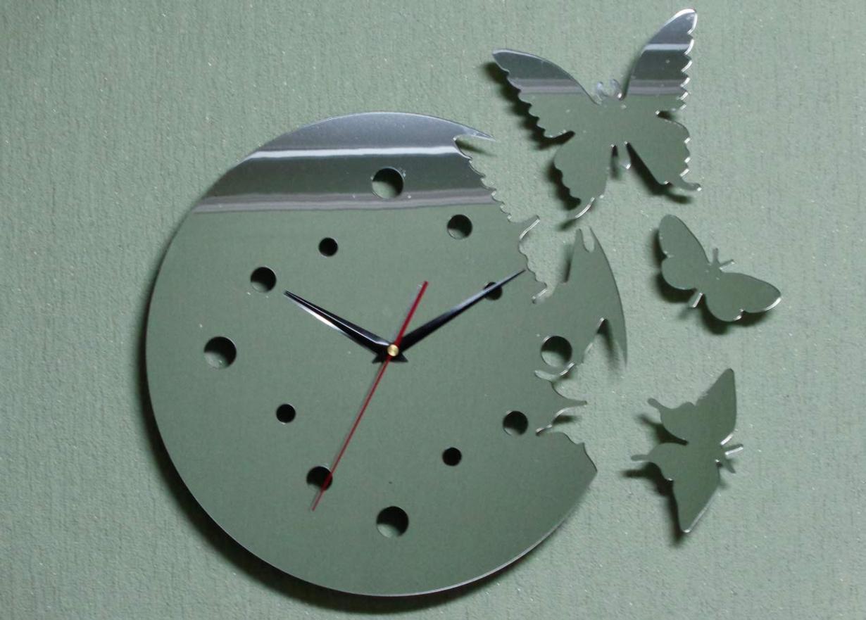 Настенные часы своими руками для кухни фото