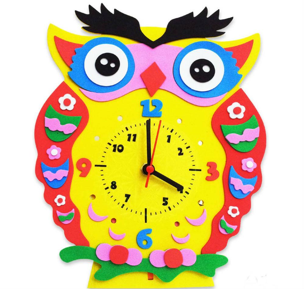 Картинки часов для детей своими руками