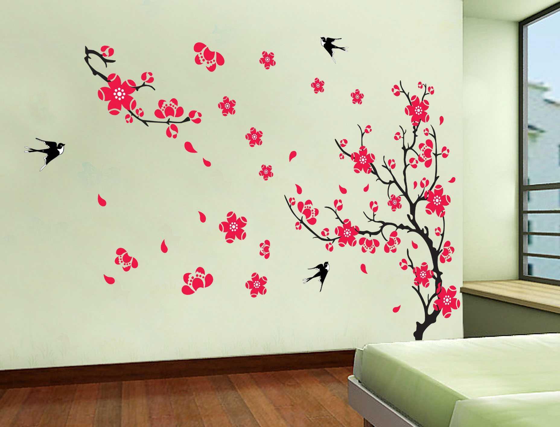 Декор стен цветы