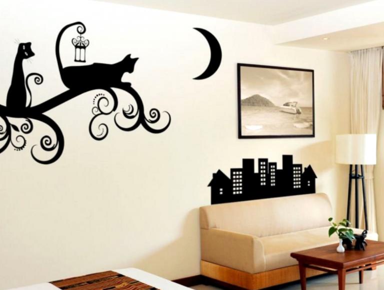 Шаблоны для декора стены своими руками фото