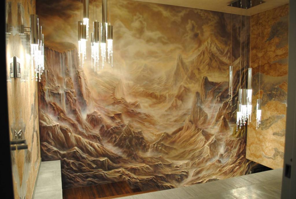 3d изображение на стене