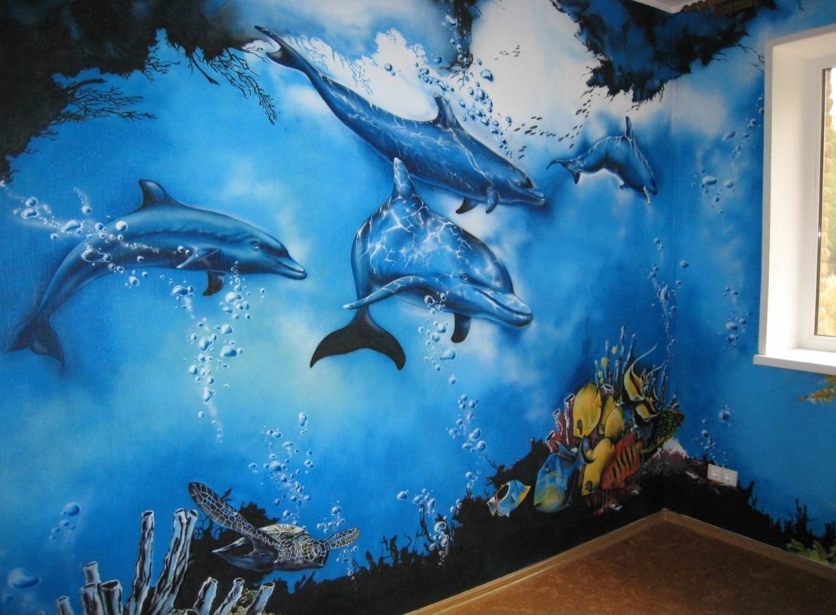 Краски рисовать аэрографию на стенах