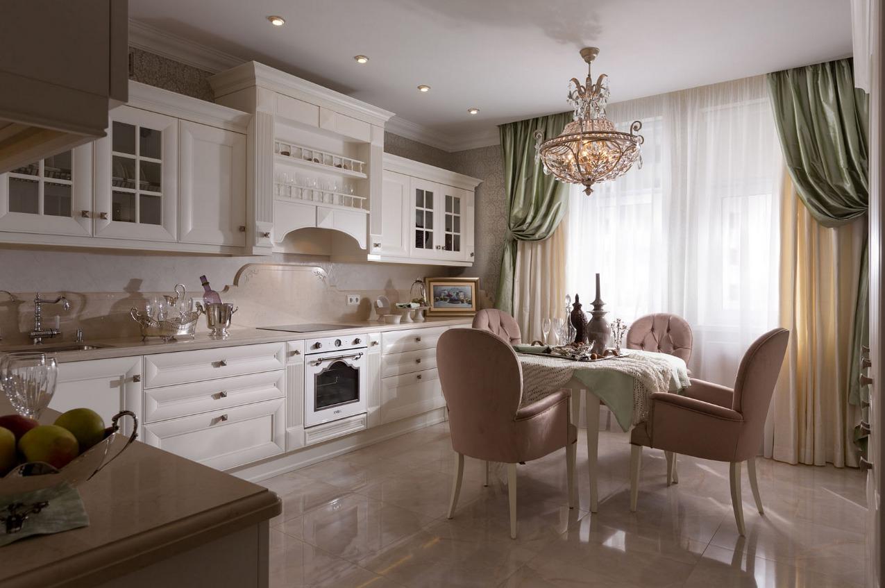 Дизайн современной классики кухни 12 кв м