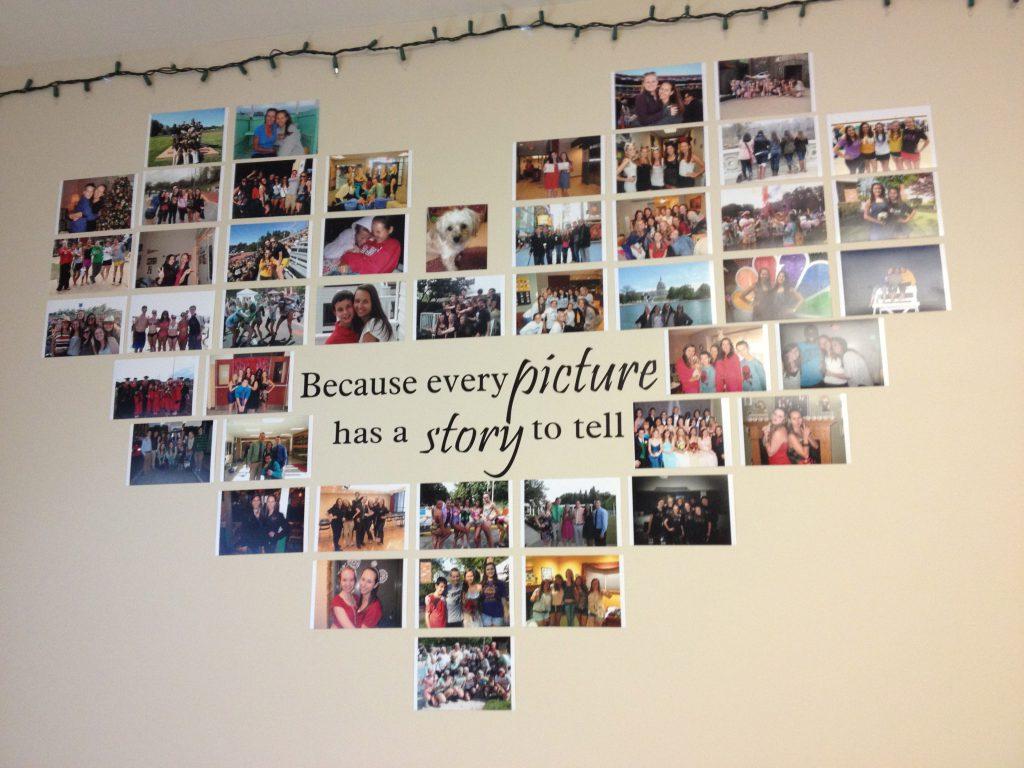 Коллаж с семейными фотографиями в виде сердца