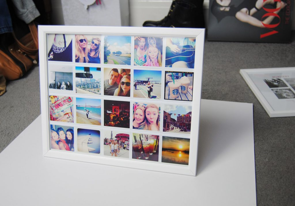 Фотоколлаж на бумаге в рамке