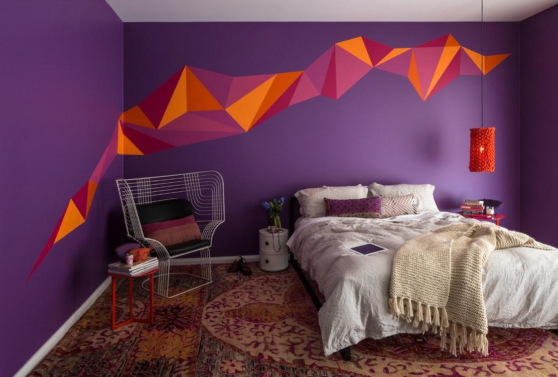 Идеи для покраски стен в спальне фото