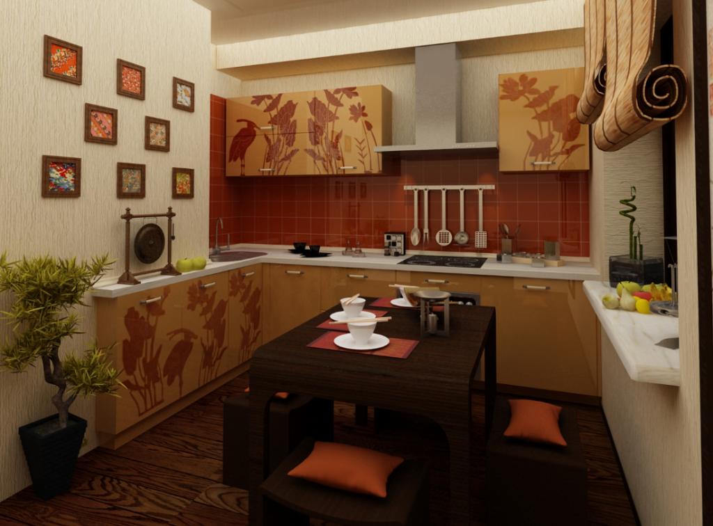 Интерьер в китайском стиле кухня фото