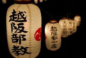 Фонарики с китайскими иероглифами