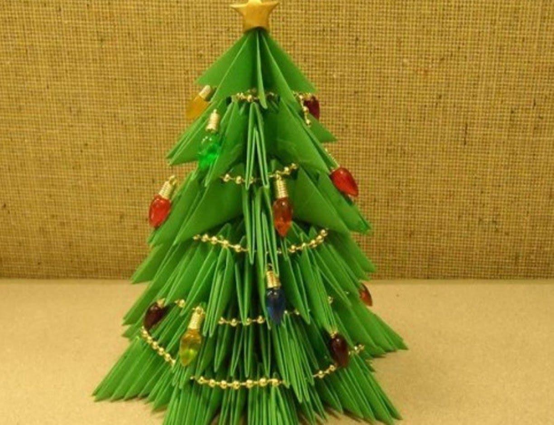 Как сделать елку из цветной фото 859