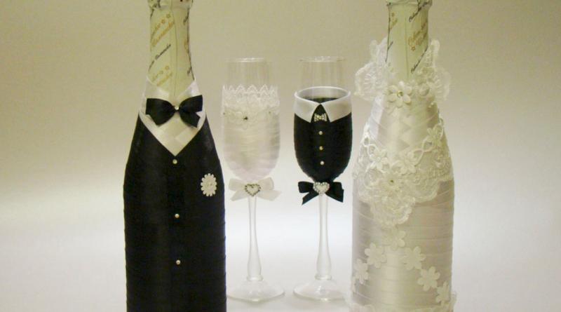 Оформление свадебных бокалов своими руками фото фото 190