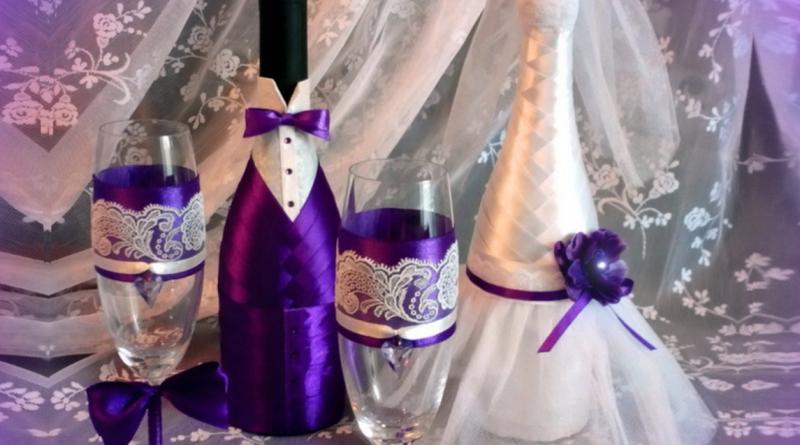 Шампанское на свадьбу своими руками лентами видео 181