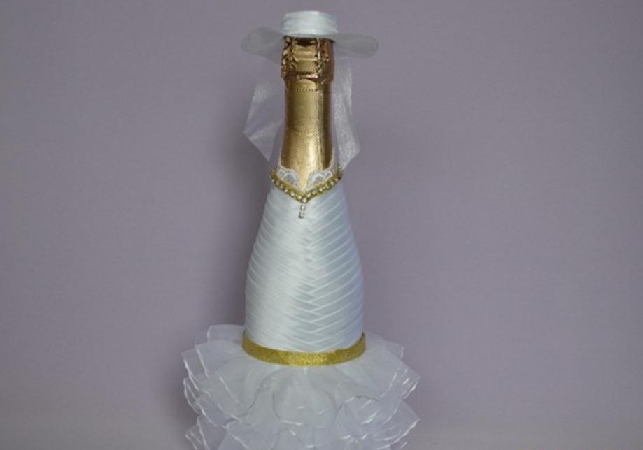 Мастер класс декорирования бутылок лентами