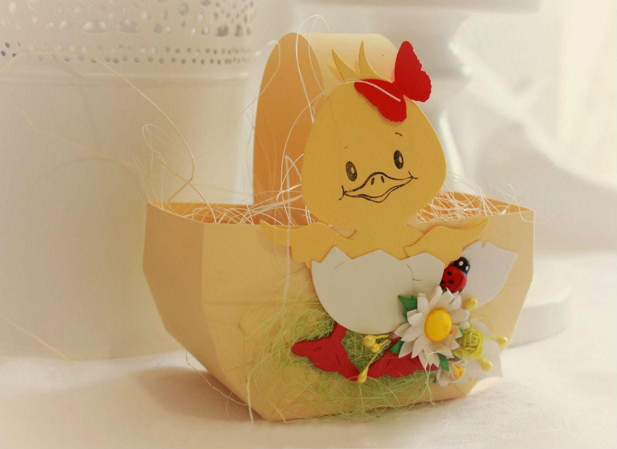 Корзинка для пасхального яйца из бумаги