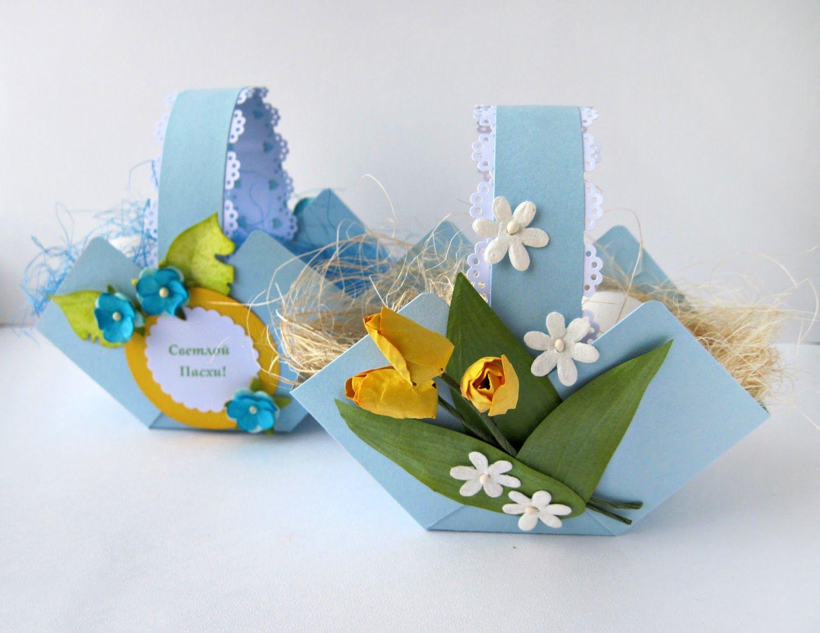 Пасхальные корзинки своими руками из бумаги и картона: 3 МК (+37 фото)