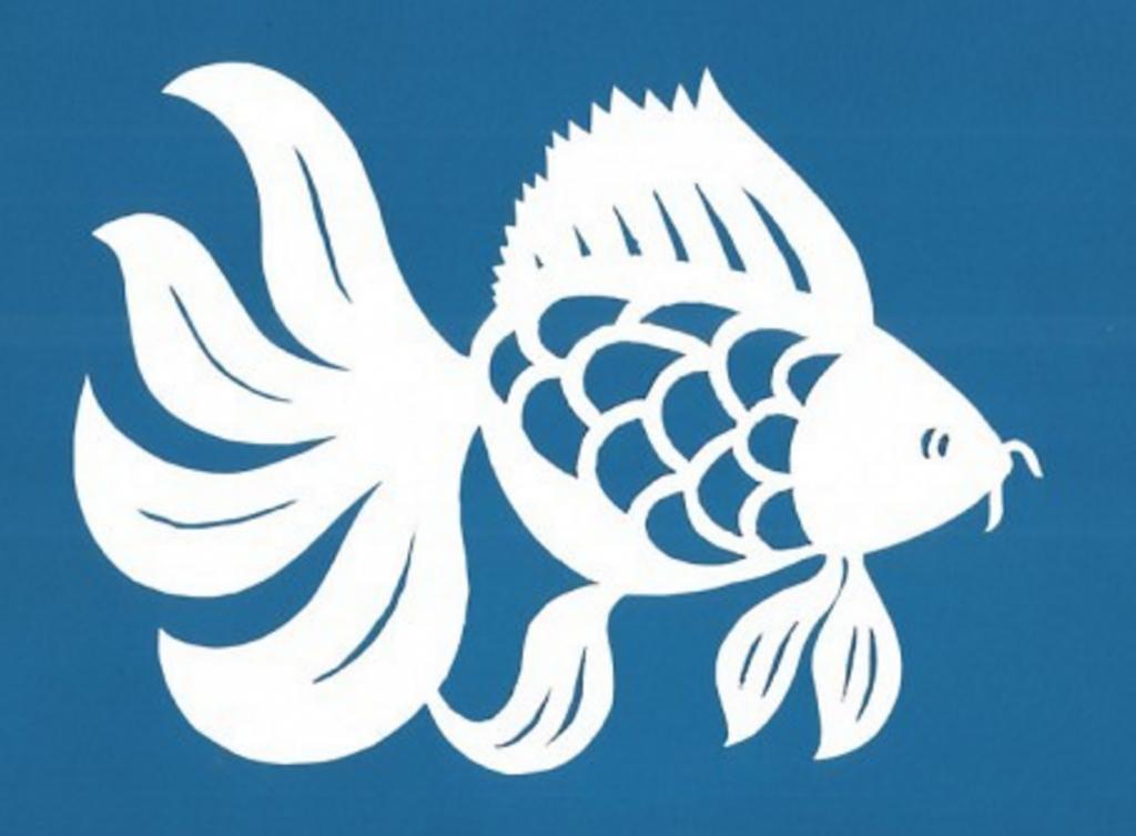 Шаблон рыбка