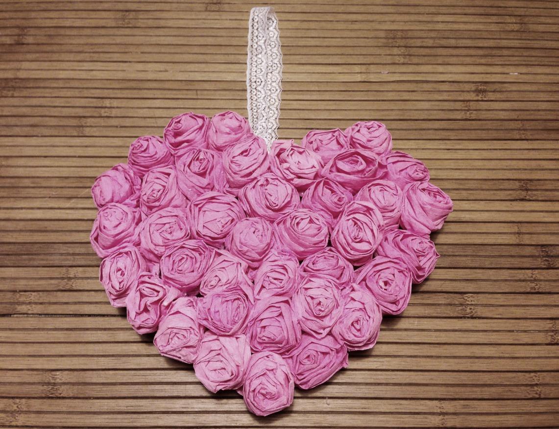 Как сделать сердце из роз своими руками пошаговое фото 94