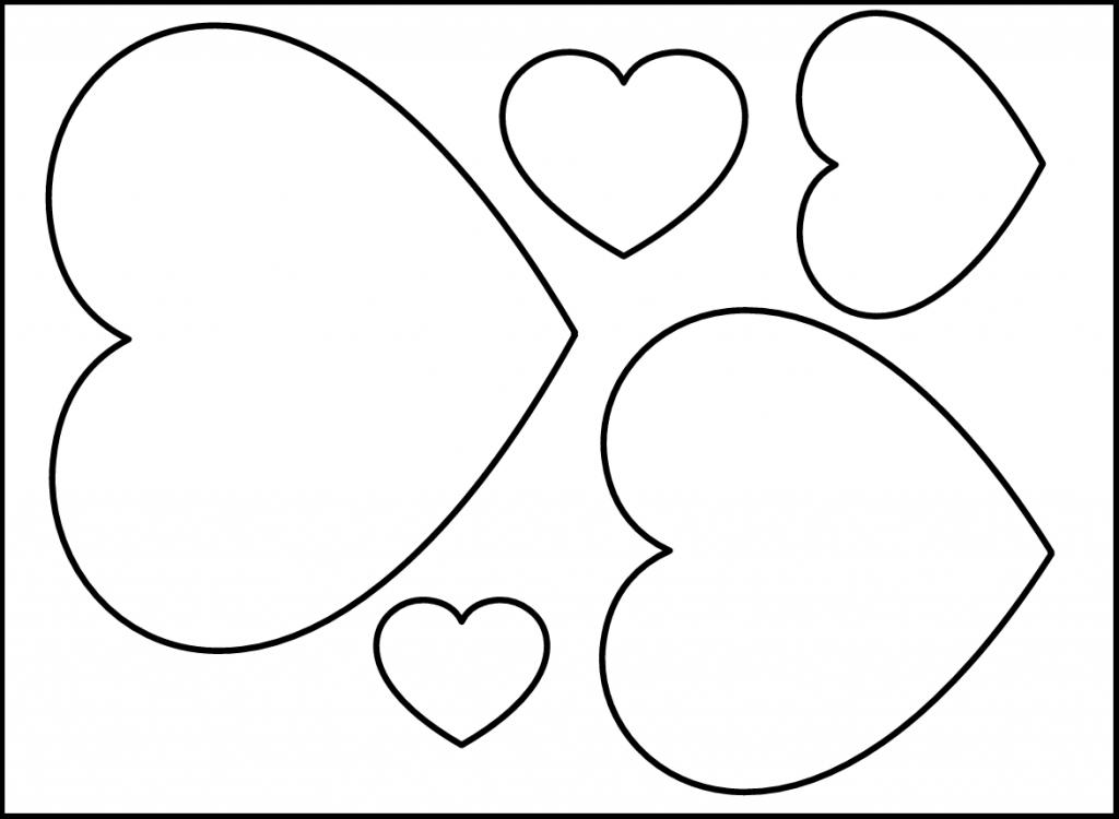 Шаблон сердечек для распечатки