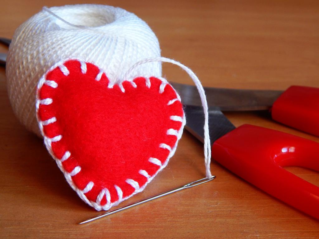 Сувенир в виде сердца своими руками