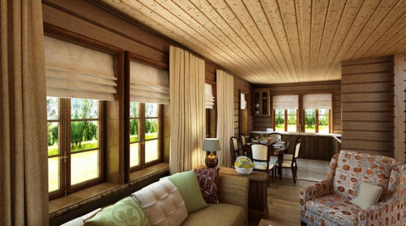 Оформление в стиле шале: интерьер гостиной комнаты в загородном доме и квартире