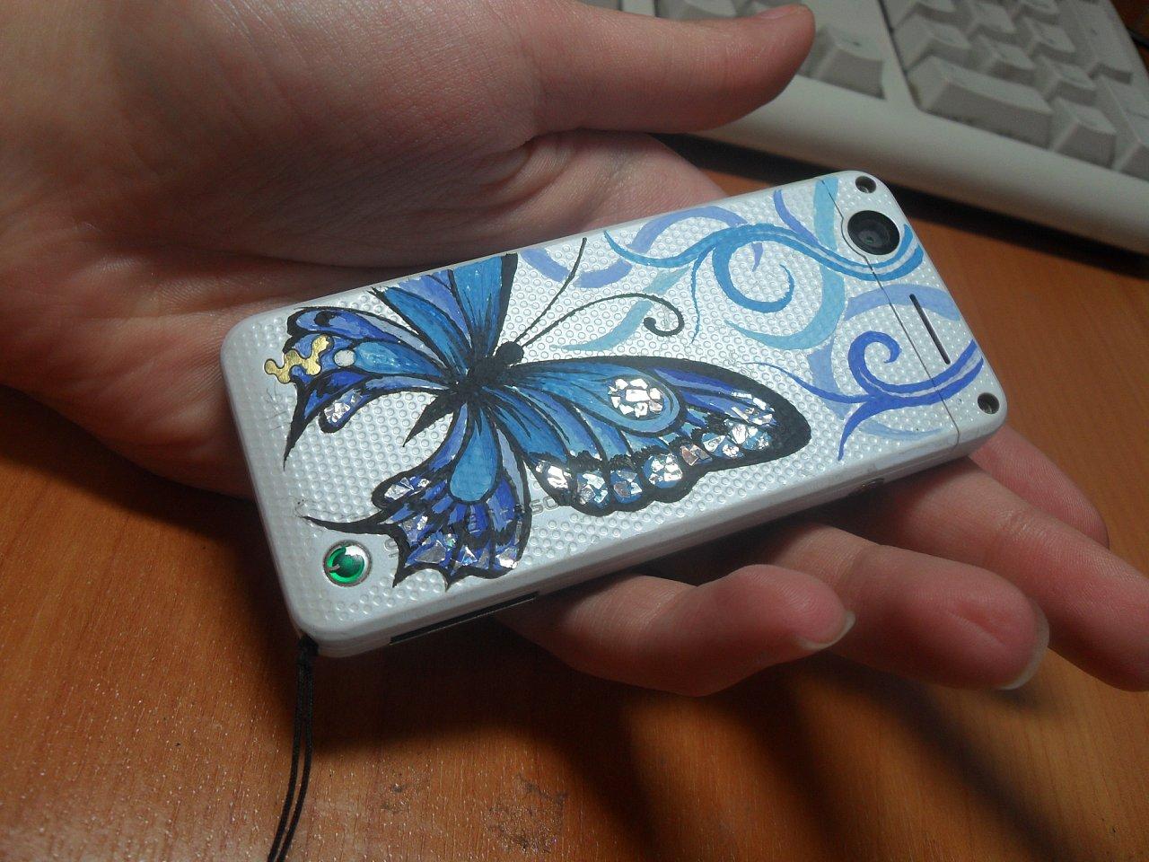 Как сделать рисунок на чехле для телефона