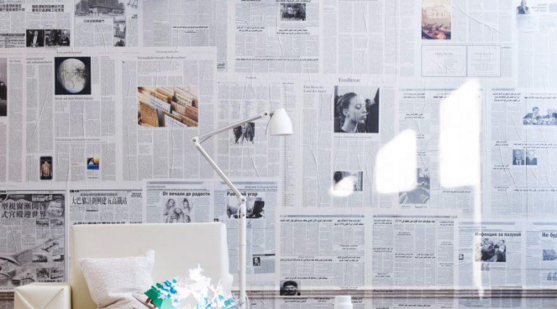 Жидкие обои из газет — основа для отделки стен (техника приготовления и нанесение)