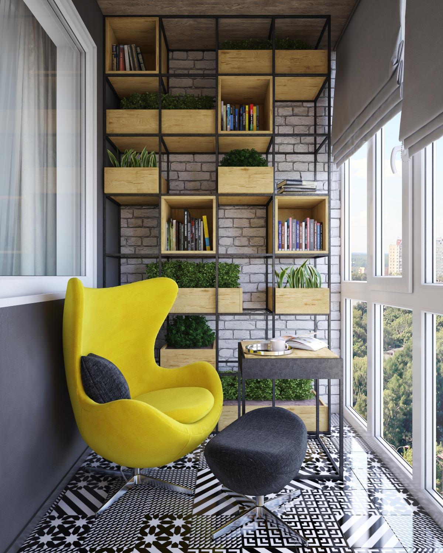 Интерьер на балконе дизайн.