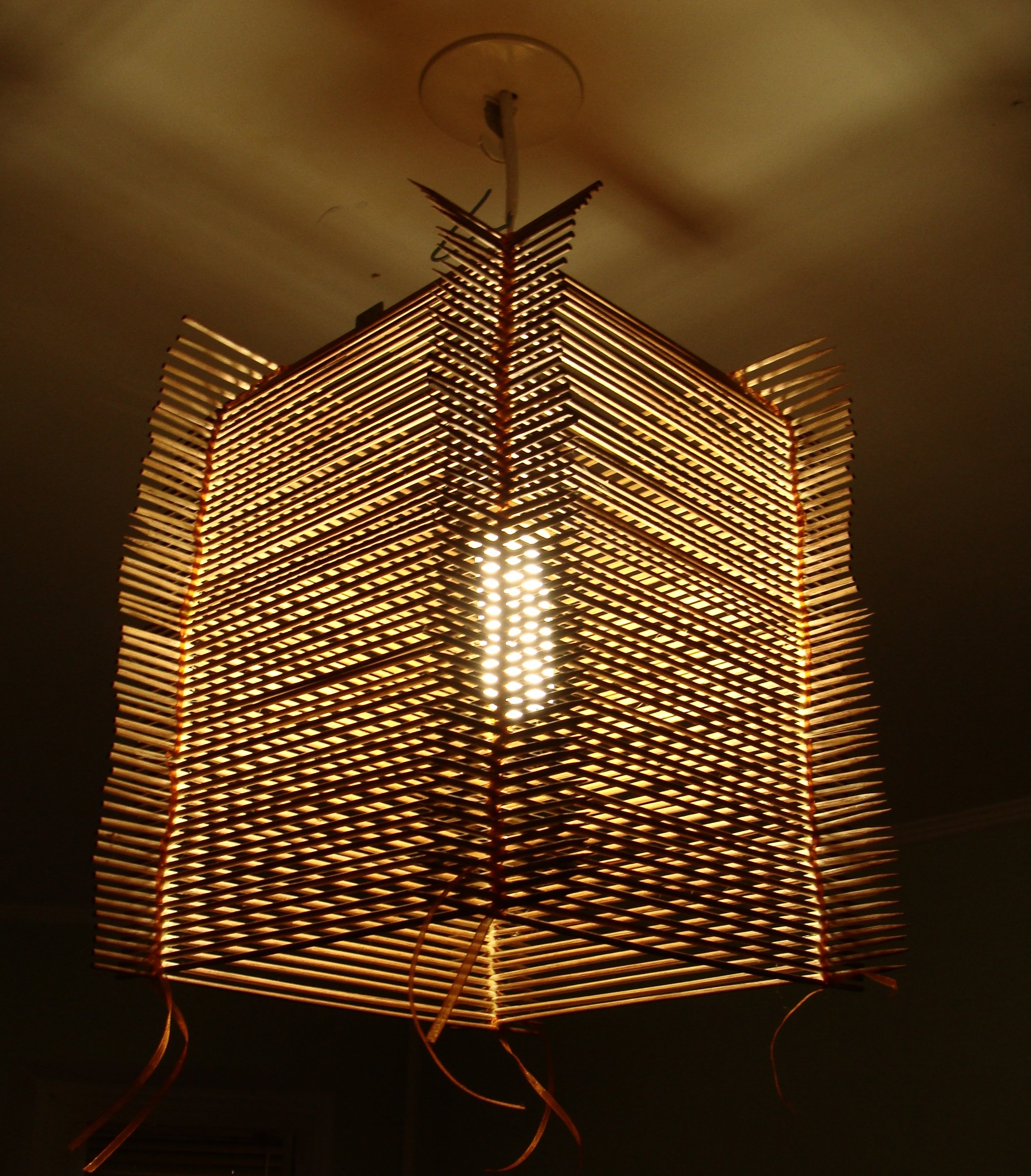 Бамбуковая люстра своими руками