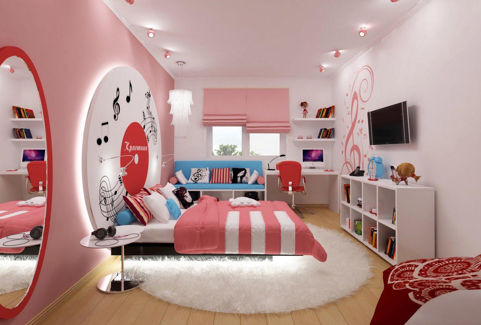 Дизайн комнаты для подростка-девочки
