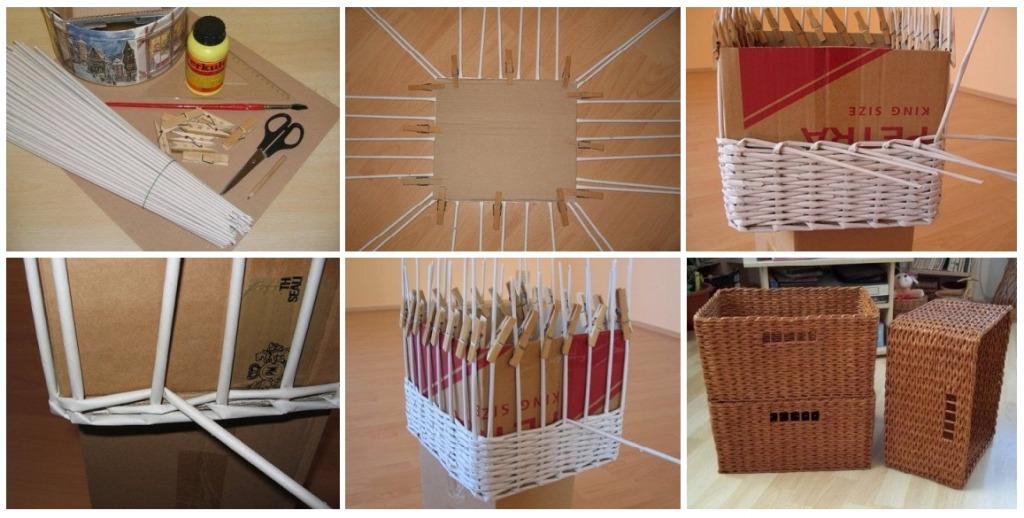 Коробка из газетных трубочек - Коробочка идей и мастер-классов
