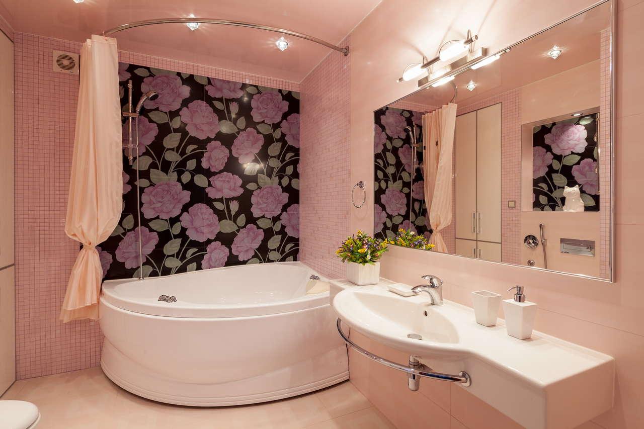 Дизайн ванной комнаты с угловыми ваннами