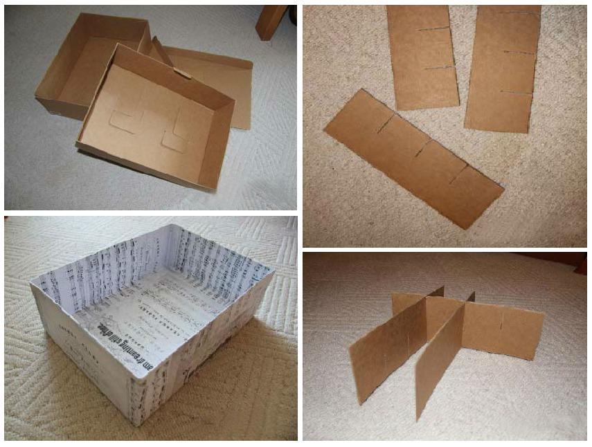 Коробка для белья своими руками из картона с крышкой инструкция 76