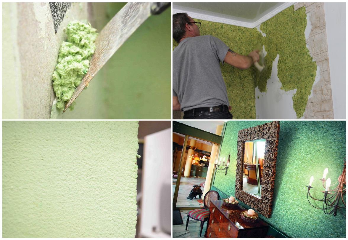 Домашний ремонт своими руками жидкие обои 93