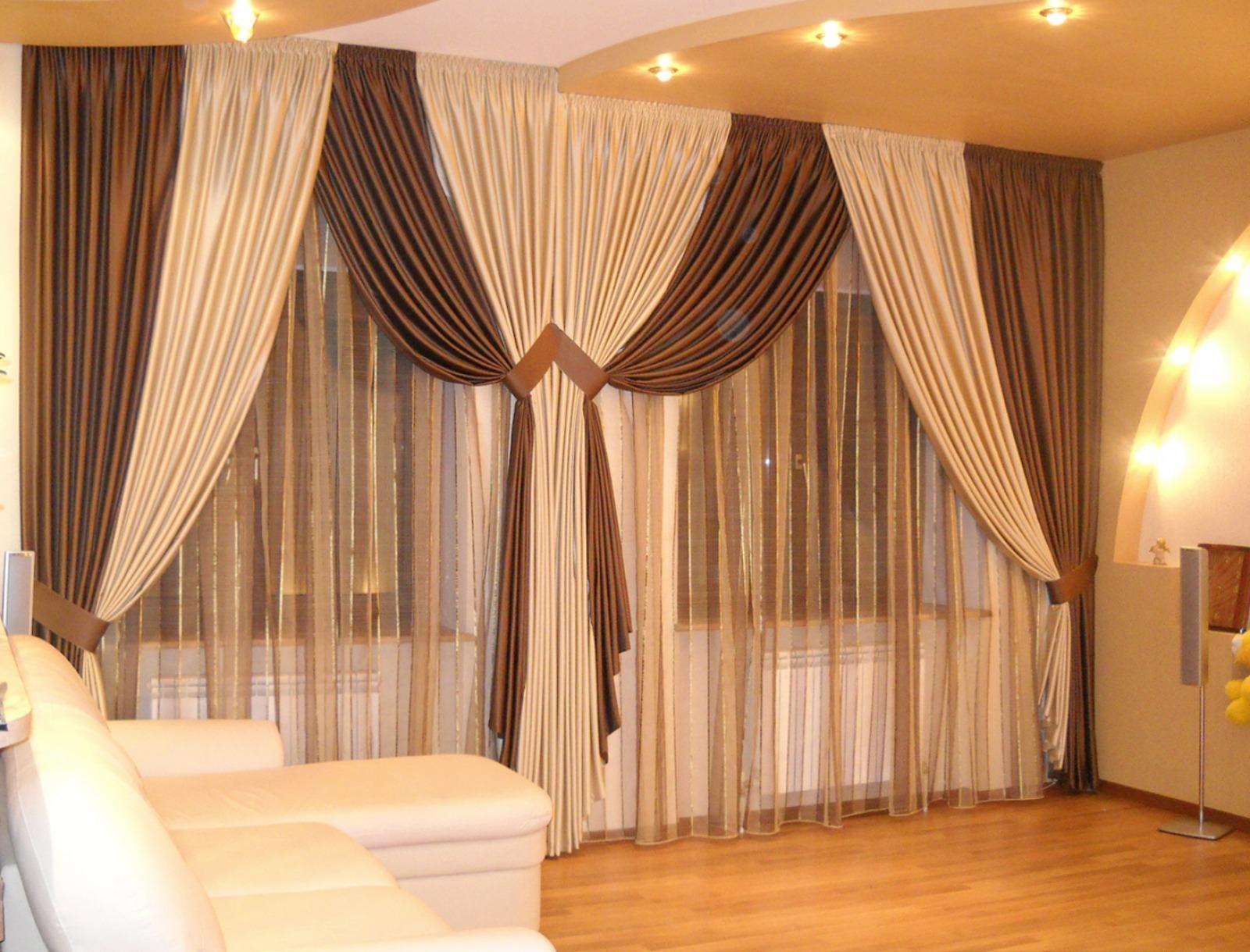Интерьер шторы фото в зал