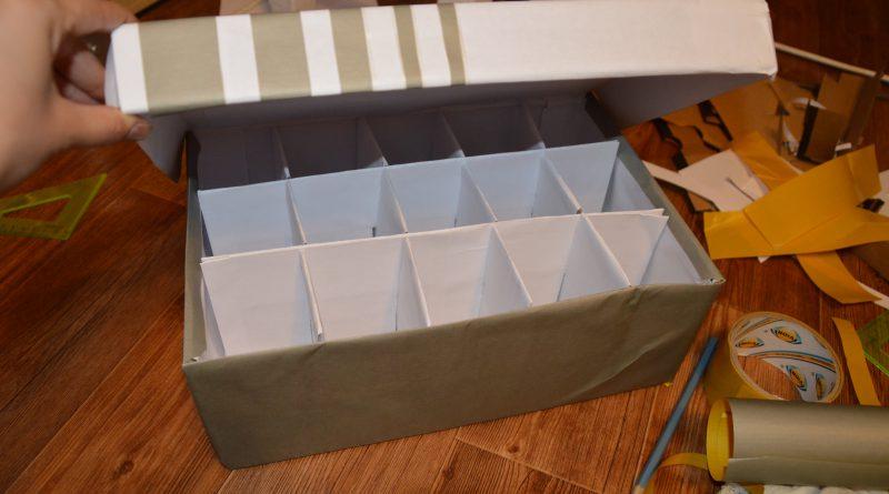 Как сделать коробку с ячейками из картона своими руками 47
